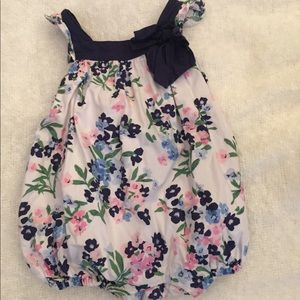 Janie and Jack bubble romper. Floral.